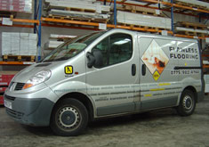 Flawless Flooring van. Contact Flawless Flooring for Laminate and Hardwood Flooring Supplies and Installation near Edinburgh.
